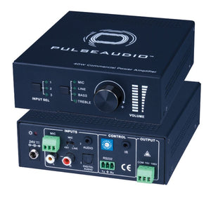 Pulse Audio PAV140 Single Channel 40w 70/100 Volt Amplifier w/Mic Input