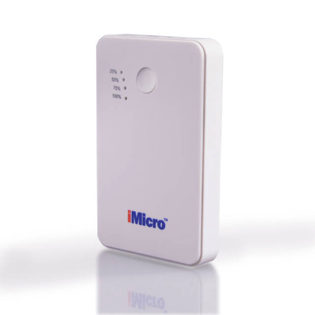 iMicro PB-IM5000W 5000mAh Lithium Polymer Battery Power Bank (White)