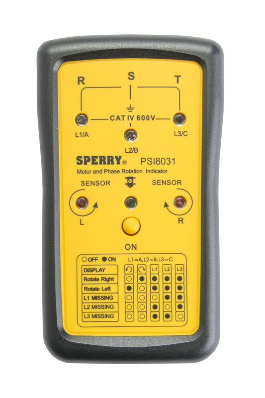 Sperry Instruments Phase Sequence and Open Phase Indicator, PSI8031