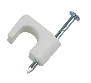 Gardner Bender 1/4 in. White Polyethylene Coaxial Staples (25-Pack), PSW-1650T