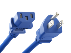 Unirise Desktop/Monitor Power Cord, 5/15P - C13, 18AWG, 10amp 125V, SJT Jacket, Blue