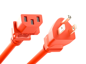Unirise Desktop/Monitor Power Cord, 5/15P - C13, 18AWG, 10amp 125V, SJT Jacket, Red