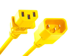 Unirise Data Center/PDU Power Cord, 10amp 250V SVT C13-C14, Yellow