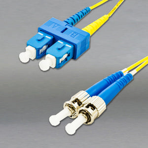 DINSpace ST/SC Singlemode (9/125) Duplex Fiber Patch Cable