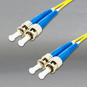 DINSpace ST/ST Singlemode (9/125) Duplex Fiber Patch Cable