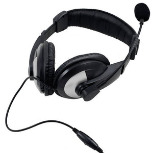 iMicro IM750BM Wired 3.5mm Leather Headset w/ Microphone