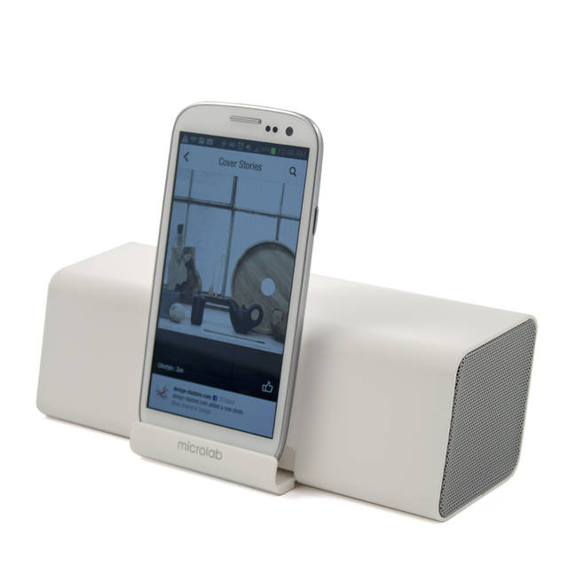 Microlab MD212 Wireless Bluetooth Portable Stereo Speaker w/ Microphone & Rechargeable Battery & Retractable Tray