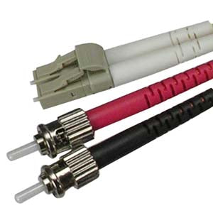 LC-ST Multimode Duplex 50/125 Fiber Optic Cable