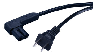 Vanco Right Angle Power Cord – 2 Prong, UL Listed (1.5-12ft)