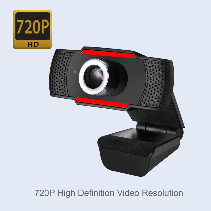 Adesso CYBERTRACK H3 720P HD USB Webcam with Built-in Microphone