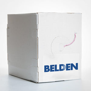 Belden Cat6 Solid Bare Copper - 23AWG UTP CMP, 1000ft Reel-in-Box