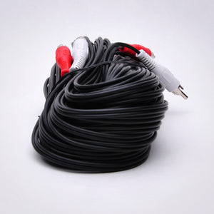 75ft 2 RCA Audio Cable - Male to Male Image 3