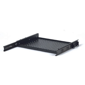 Quest 1 Unit (1U) Vented Sliding Rack Shelf