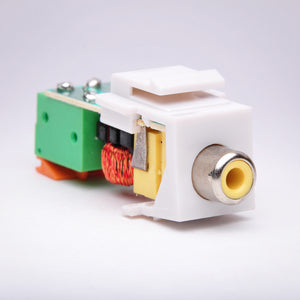 Composite RCA (Yellow) Balun over CAT5 Keystone Jack Alternative View