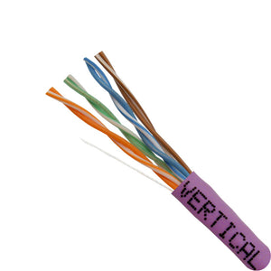 Closeup of 1000ft Cat5E Cable Purple