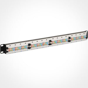 ICC ICMPP0245E 24 Port Cat5E Patch Panel, 1 RMS Rear View