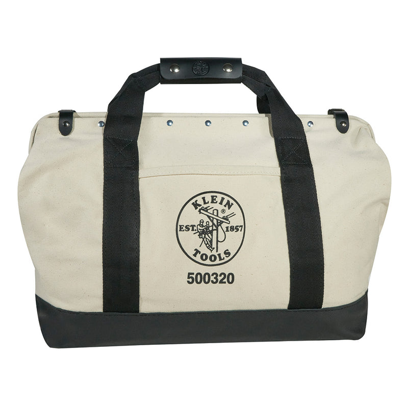 Klein Tools 500320 20 Inch Canvas Tool Bag with Leather Bottom