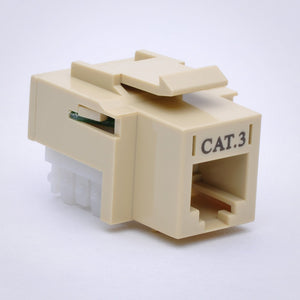 CAT3 Keystone Jack - 110 Style Alternative Front View