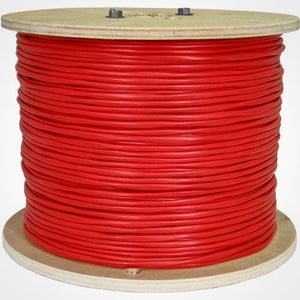 Vertical Cable 1000ft Fire Alarm Cable - 16/2 Solid FPLR, Red
