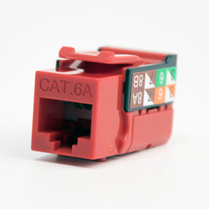 Cat6A Keystone Jack - 110 Style Red