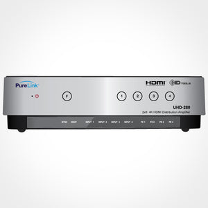 PureLink 2x8 Ultra HD/4K HDMI Distribution Amplifier Front View