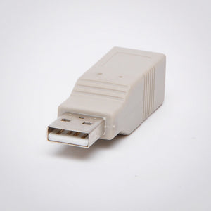 USB Type A Male to USB Type B Female Adapter
