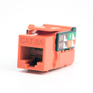 Cat6A Keystone Jack - 110 Style Orange