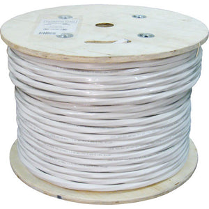 Vertical Bulk Cable 500ft CAT6 RG6U Coax Siamese White
