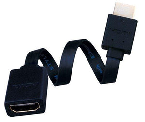 Vanco Super Flex Male to Female Flat HDMI Cable - High Speed with Ethernet
