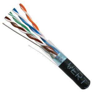 Cat5e Cable With 24AWG F/UTP 350MHz CMR In Black - Internal