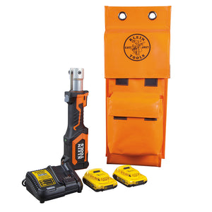 Klein Tools BAT207T13 Battery-Operated Cutter/Crimper, No Heads, 2 Ah