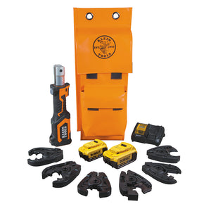 Klein Tools BAT207T144H Battery-Operated Cable Cutter/Crimper Kit, 4 Ah