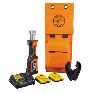 Klein Tools BAT207T1 Battery-Operated Crimper, BG Die/D3 Groove, 2 Ah