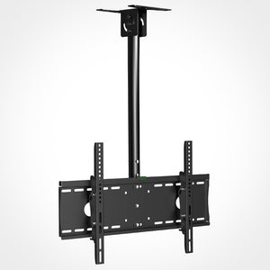 Rhino Brackets Tilt Ceiling TV Mount with Adjustable Pole - 32 to 55 Inch Screens