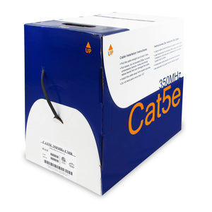 Cat5e Bulk Cable CMR Rated PVC Jacket - Black