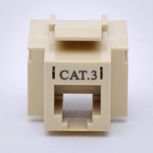 CAT3 Keystone Jack - 110 Style Front View