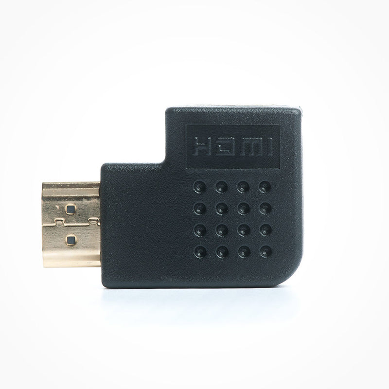 Vertical Flat Left Angle HDMI Adapter