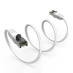 Cat5E Shielded Ethernet Patch Cable, Snagless Boot, White Alternate 3