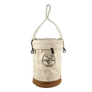 Leather Bottom Bucket with Top