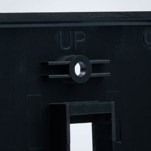 Vertical Cable 304-J2647/2P/BK 2 Port Keystone Plate, Black Image 5