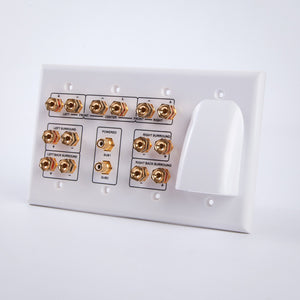 Vanco HTWP72BW 7.2 Home Theater Wall Plate w/ Bulk Cable