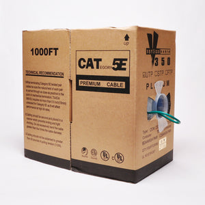 Cat5e Cable Of 1000ft 24AWG 350MHz CMP - Green
