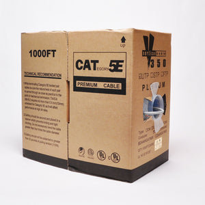 Cat5e Cable Of 1000ft 24AWG 350MHz CMP - Gray