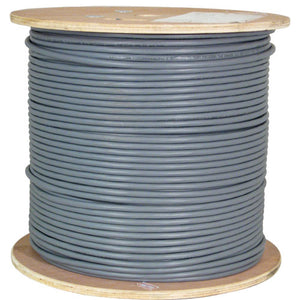Vertical Cable Cat5E Plenum Cable Solid Shielded 1000ft 24AWG STP Bare Copper 350MHz