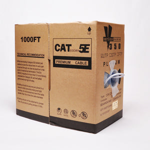 Cat5e Cable Of 1000ft 24AWG 350MHz CMP - White