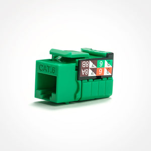 Cat6 Keystone Jack In 110 Style - Green
