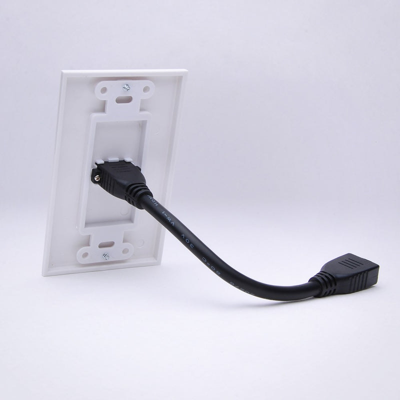 Vanco 120931 Slim Line Standard Pigtail Decor HDMI Wall Plate