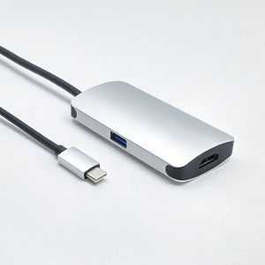 USB Type C to HDMI, USB-C, USB 3.0 3-in-1 Adapter