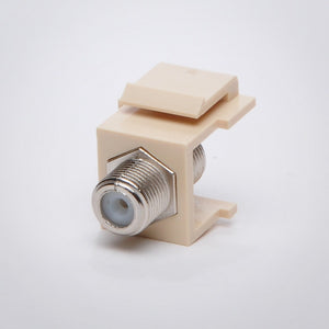 Coax Keystone Jack - F81 Female to Female Coupler