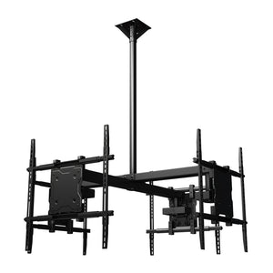 Crimson-AV CQUAD65 TV Ceiling Mount for 4 Displays
